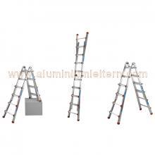 Aluminium Teleskopleiter QU 5+6 stufen maßnahmen